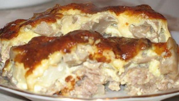 Запеканка мясная с картофелем