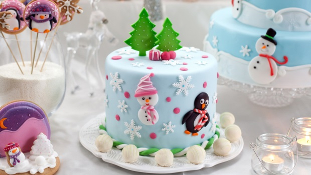 Как украсить новогодний торт