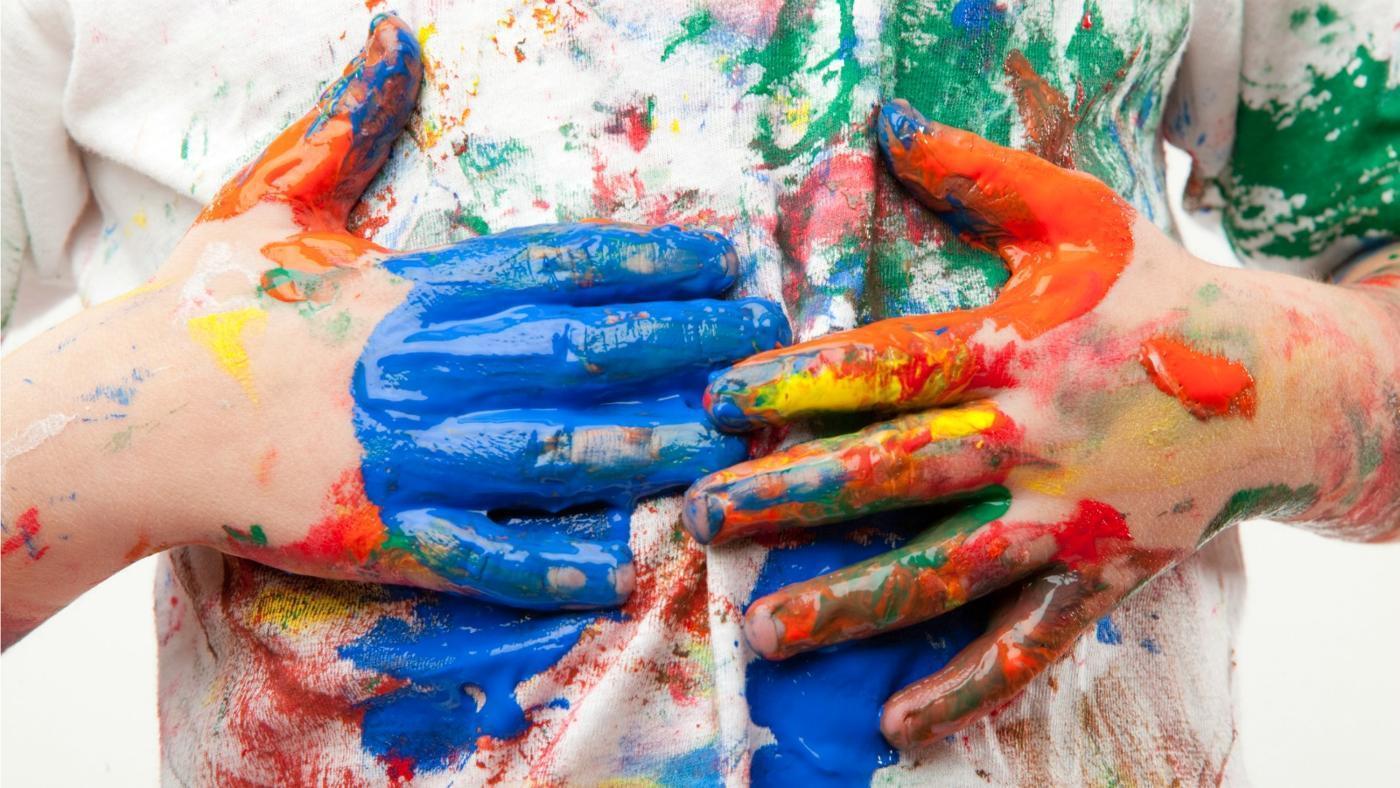 Вывести пятна акварельной краски с одежды фото