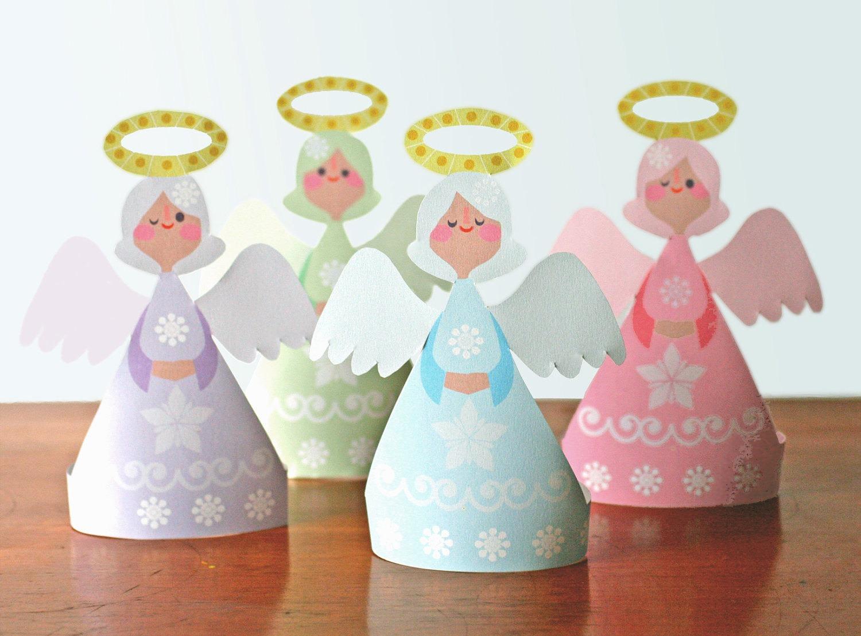 Ангелочки из бумаги своими руками шаблоны распечатать фото